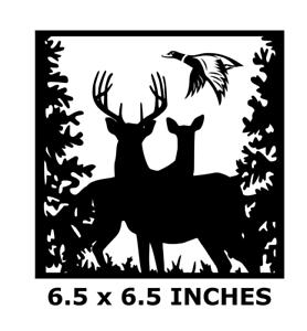 """COUNTRY DEER /& DUCK SCENE VINYL DECAL FOR 8/"""" GLASS BLOCK DIY CRAFTS BUCK /& DOE"""