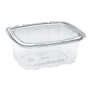 Placon Crystal Seal RPET Tamper-Evident Utility Food Container | 140/Case