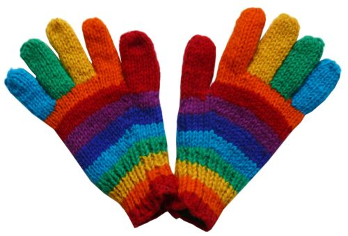 Fleece Futter S Gr M türkis rot Regenbogen 100/% Wolle Handschuhe Schafwolle