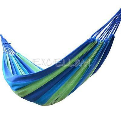 Cotton Rope Canvas Fabric Swing Bed Hammock Hanging Swinging Camping Outdoor New