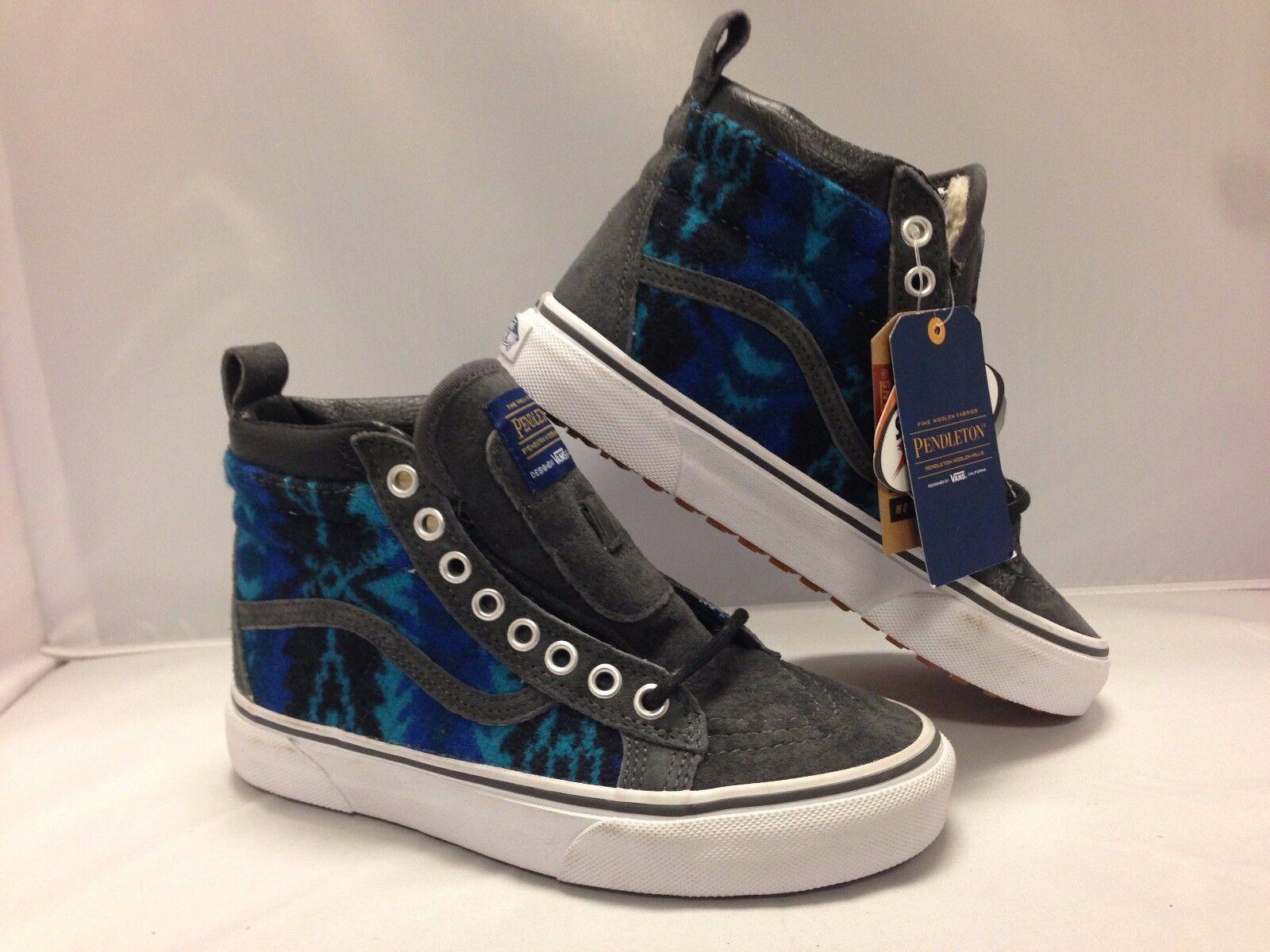 aade788588 Kids shoes MTE -- (Pendletion Tribal Asphalt Vans Sk8-Hi nvzihc450-Athletic  Shoes
