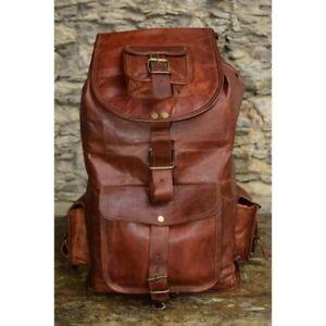 Bag-Rucksack-Backpack-Leather-Men-Travel-School-Satchel-Laptop-Vintage-Shoulder