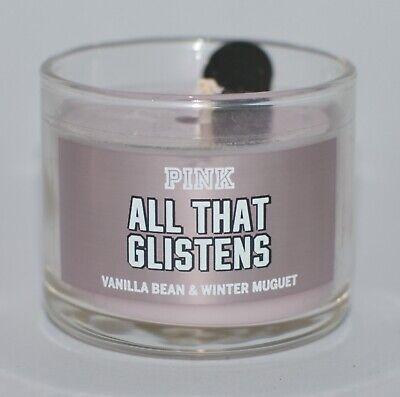 3 Victoria/'s Secret Pink Sleigh All Day Juniper /& Fir Balsam Mini Candles 1.3 oz