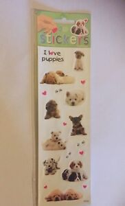 I-love-puppies-stickers-pack-2-sheets-dog-westie-labrador-cavalier-yorkie