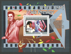 GUINEA-2007-POP-ROCK-MUSIC-ELVIS-PRESLEY-SUN-RECORDS-M-SHEET-MNH