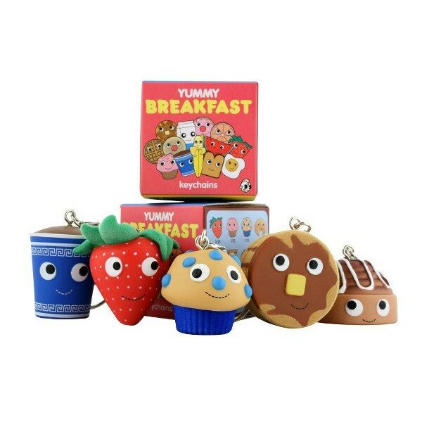 Complete case - Kidrobot Yummy Breakfast 2inch Keychains by Heidi Kenney