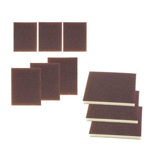 9x Wet Dry Sponge Foam Polishing Sanding Block Pad Fine Medium Extra Fine