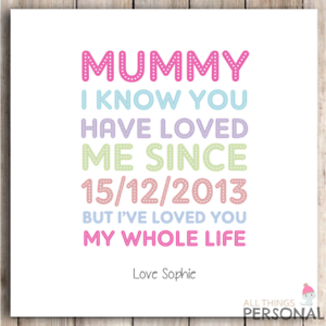 Image Is Loading Personalised Birthday Card Christmas Mothers Day Mum