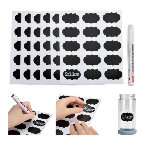 Spice Jam Jar Home Blackboard Label Marker Pen Labels Stickers Bottle Tags