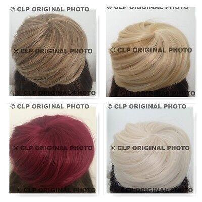 Geschickt Bun Maker Hairpiece Synthetic Scunchies, Natural Cover Hair Extension Messy Bun