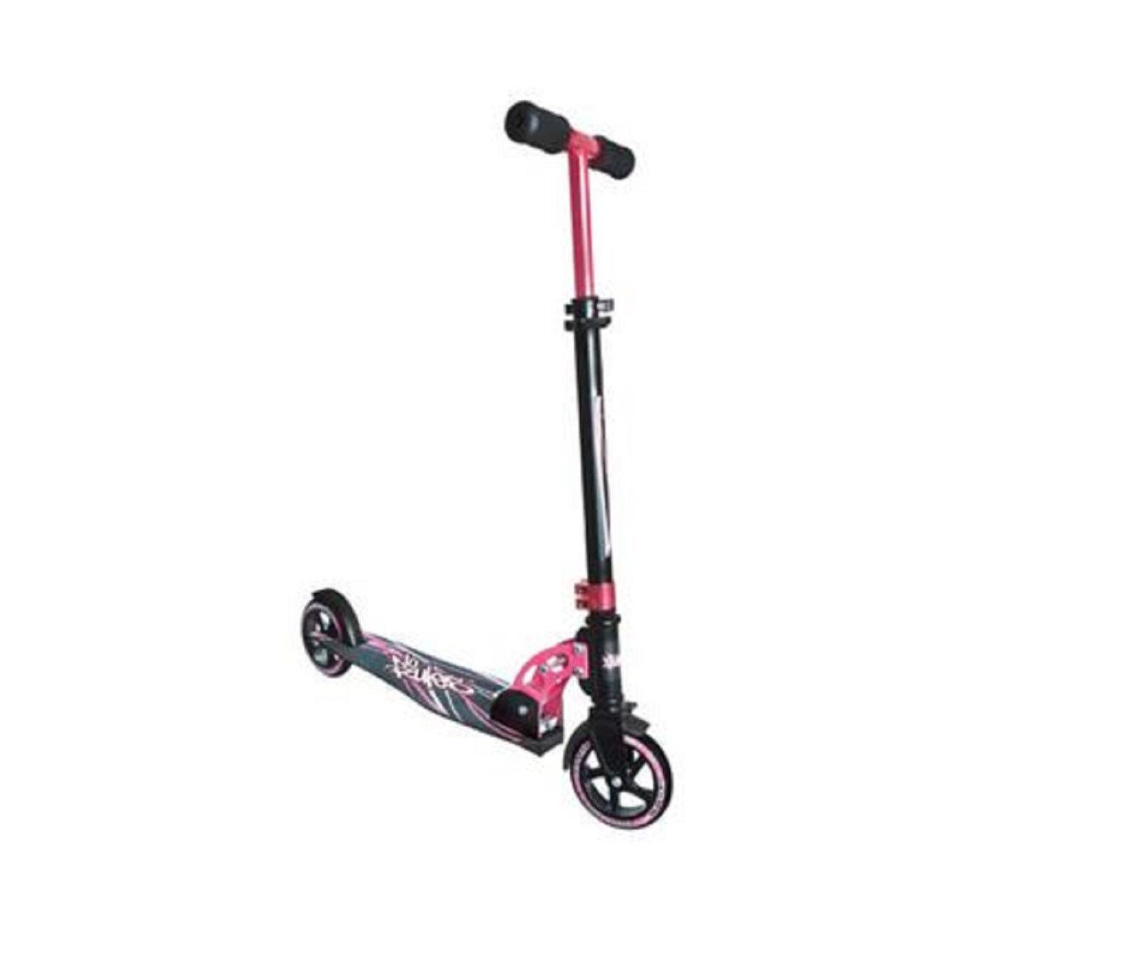 Authentic No Rules Rules No Aluminium Scooter 145 mm schwarz/Rosa Roller Cityroller NEU 30e30c