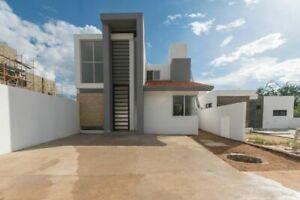 Casa con doble altura y recamara en planta baja