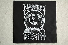 Napalm Death Back Patch (BP136) Death Metal Rock Venom S.O.D. Slayer Suffocation