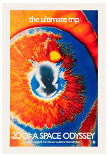 1960's Sci-Fi  * 2001 A Space Odyssey *  RARE EYE Movie Poster 1968
