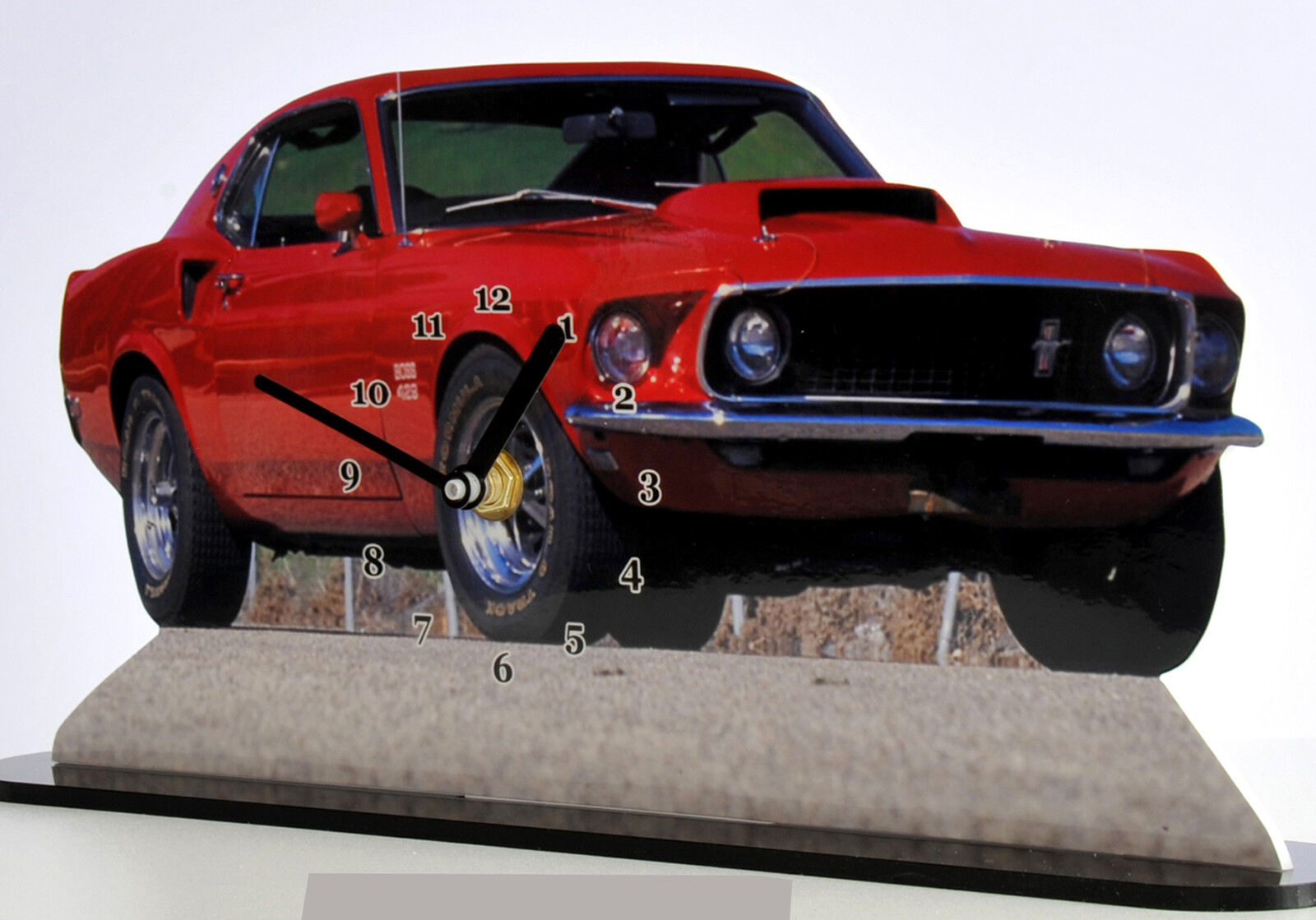 VEHICULE MINIATURE, FORD MUSTANG SHELBY red 03 en horloge