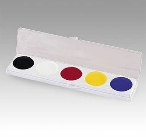 Mehron 5 Color Slim Palette w// Yellow ~ Auguste Tramp Clown Makup Kit 405