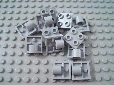LEGO Lot of 12 Light Bluish Gray 1x1 Plates