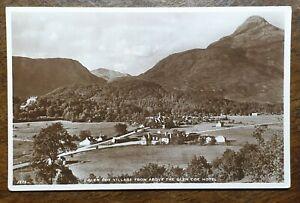 Glen-Coe-Village-From-above-The-Glen-Coe-Hotel-Vintage-Real-Photo-Postcard-1775