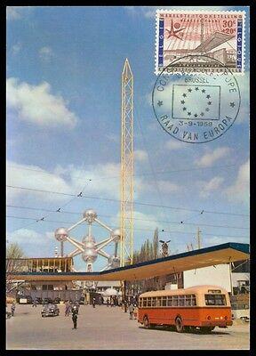 Willensstark Belgien Mk 1958 Expo Atomium Maximumkarte Carte Maximum Card Mc Cm H0556 Architektur