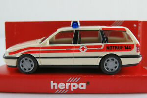 Herpa-184496-VW-Passat-GL-Variant-1994-034-ORK-034-in-cremeweiss-rot-1-87-H0-NEU-OVP
