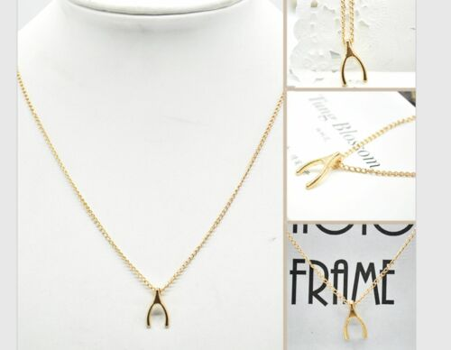Filigrane Kette Halskette Wunschknochen SILBER GOLD Style Casual Wish Bone neu