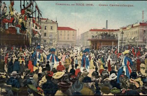 Nice-France-Carnaval-1909-Elaborate-Parade-Postcard-10