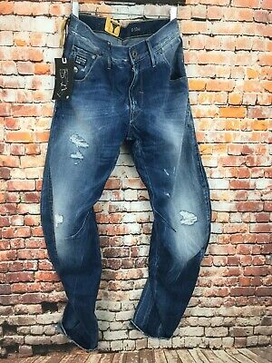 NEUF G Star Arc 3D Loose Tapered Rugby Destroy Denim jeans, taille 29 L 32 GS01 | eBay