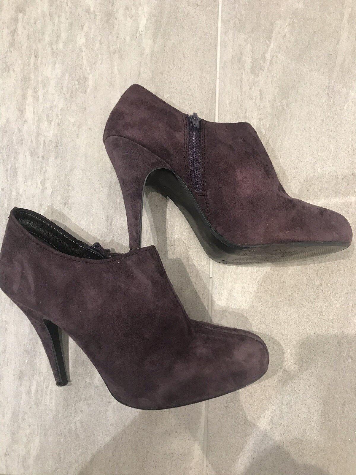 Daim Chaussures Couleur 5 En Aubergine 4 Bottes Taille MUSzGqVp