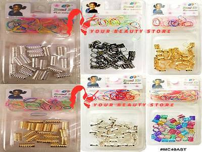 Dreadlocks Metal Hair Beads Cuff Clips Rasta Wrap Braids Plaits Accessories New