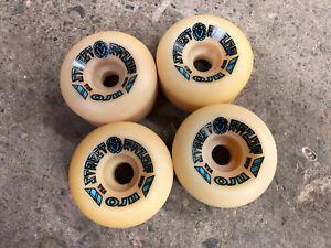 Old-School-NOS-Vintage-Santa-Cruz-Street-Razor-Skateboard-Wheels-Set-of-4-60mm