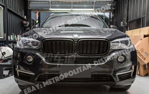 nero lucido F15//F16,2014-18 doppio//Doppio a doghe//BAR X5M//X6M Look griglia BMW X5//X6