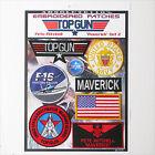 "TOP GUN ""MAVERICK"" FANCY DRESS Patches - Iron-On Patch Mega Set #014 - FREE POST"