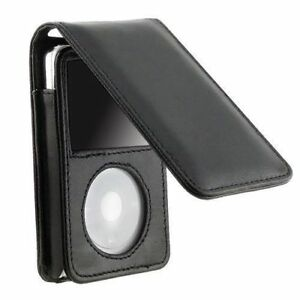 Leather-Sleeve-Pouch-Case-w-Belt-Clip-for-iPod-Classic-80GB-120GB-160GB-Black