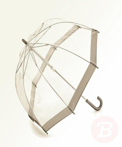 Silver Fulton Funbrella Birdcage Clear Umbrella for Children