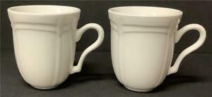 2 Coffee Cups Gibson LeClair Every Day Houseware Creamy White mugs China