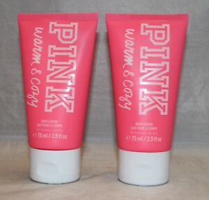 3ed6ca321f Victoria s Secret Pink Warm   Cozy Travel Size Body Lotion X 2 (2.5 ...