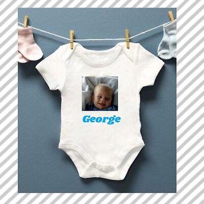New Baby Boy Gift Personalised Birthday Age Baby short sleeved white Vest
