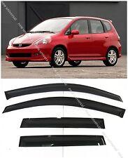 Window Visors Sun Rain Wind Guard for Honda Fit / Jazz Hatchback 2006-2008