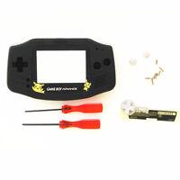 Gba Nintendo Game Boy Advance Replacement Housing Shell Screen Len Black Pikachu