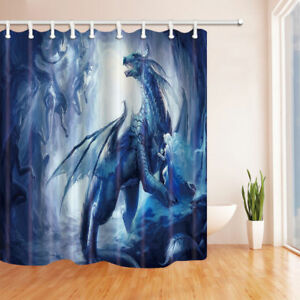 Image Is Loading Dragon And Elf Shower Curtain Home Bathroom Decor