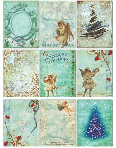 gift tags junk journal cards scrapbooking cards Xmas cards Christmas tags