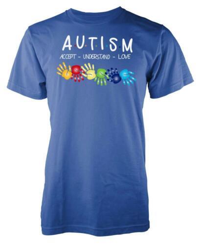 Autismo Rainbow Mani accettare capire l/'amore per Adulti T Shirt