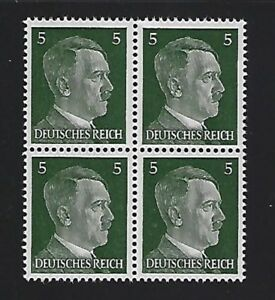MNH-Adolph-Hitler-stamp-block-1941-PF05-Original-Third-Reich-Germany-Block