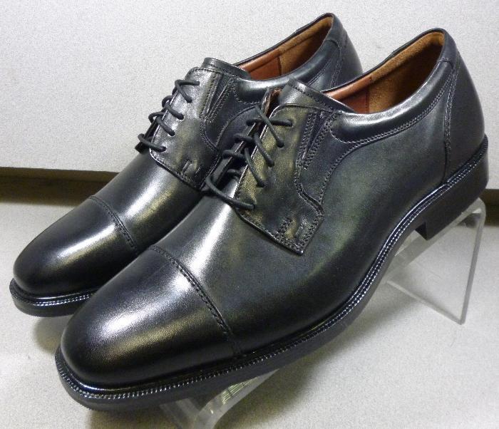 208751 MS50 Chaussures Hommes Taille 12 M Noir en Cuir à Lacets Johnston & Murphy