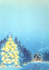 Decadry DPF638 Christmas Welcome Themed A4 Letterhead Writing Paper 100 Sheets