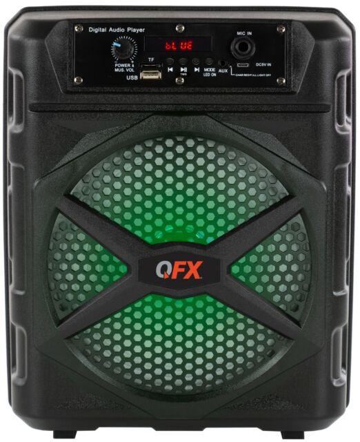 Supersonic SC-1475BT Rechargeable Bluetooth Speaker w//FM//USB//MicroSD//AUX-IN BLK
