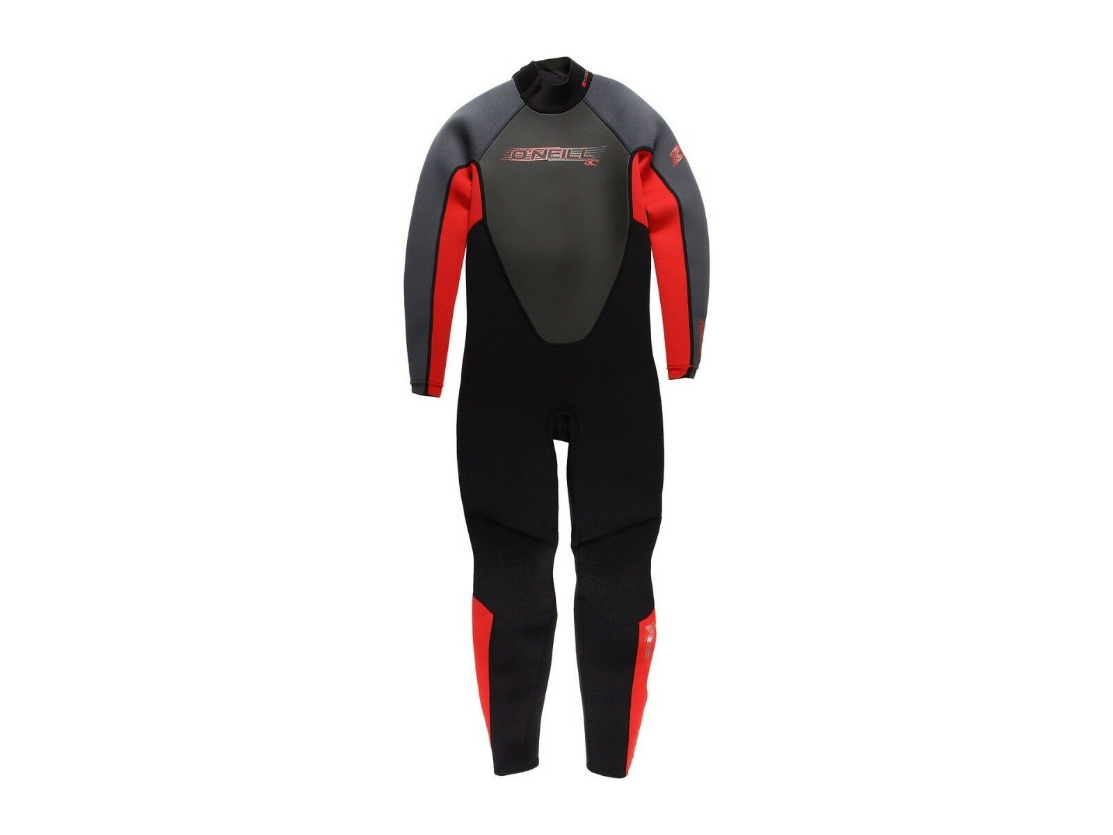 O'NEILL Youth 3.2 REACTOR BZ Wetsuit - BLK RED GRAPH - Size 10 - NWT