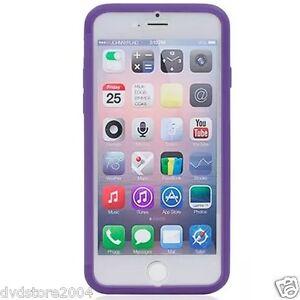 Custodia-WALLET-Cover-VIOLA-FRONTE-TRASPARENTE-per-Apple-iPhone-6-4-7-Gel-Gomma