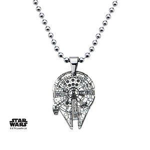 Oficial-Halcon-Milenario-Star-Wars-Cadena-Collar-Colgante-Corte-nuevo