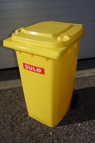 Müllgroßbehälter SULO 240L Mülltonne NEU in gelb ORIGINAL Abfalltonne
